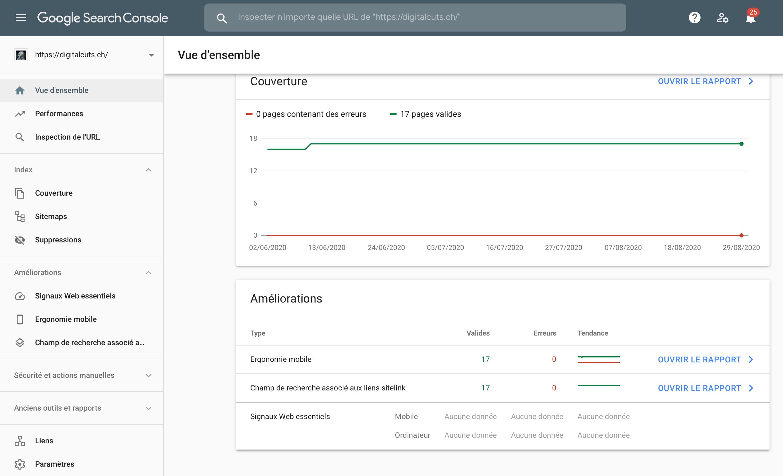 Les fonctionnalités de la Google Search Console