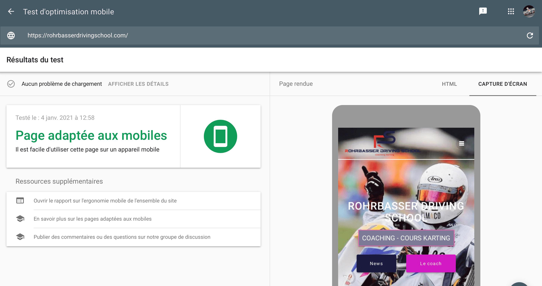 Site web responsive mobile conseils référencement seo