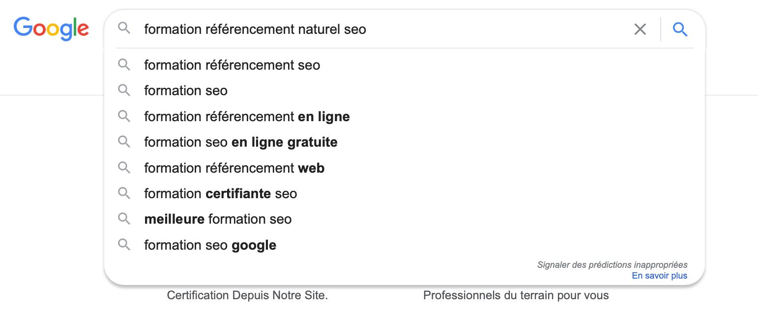 Utiliser Google Autocomplete pour comprendre l'intention de l'internaute et améliorer son référencement