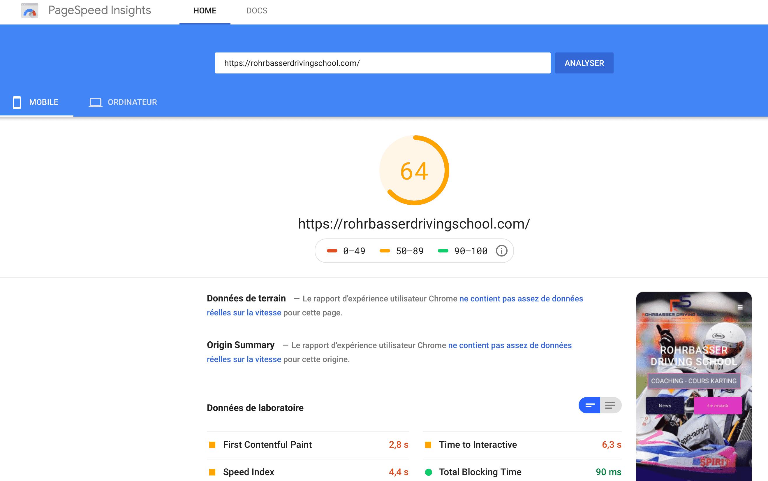 Vitesse du site important pour bien être référencé sur Google en 2021